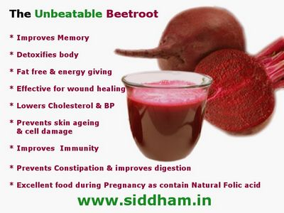 Health Benefits of Beet Juice good source of energy